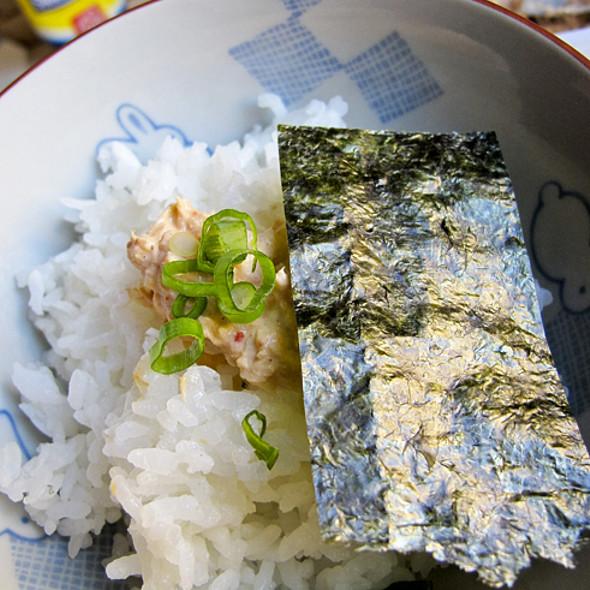 spicy tuna over rice @ New York, NY