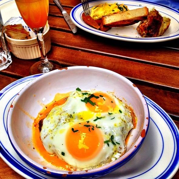 Two Eggs With Mushroom Gravy @ Medi Wine Bar