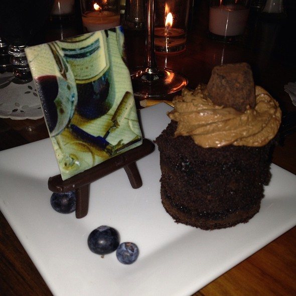 Chocolate Painting, Triple Chocolate Fantasy @ Wolfgang's Restaurant And Wine Bistro