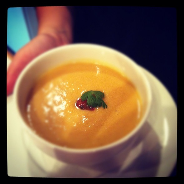Flambé Mango Soup @ Casabe 305 Bistro