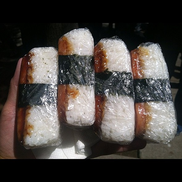 absolutely the best spam musubi anywhere. @ Cherry Blossom Festival