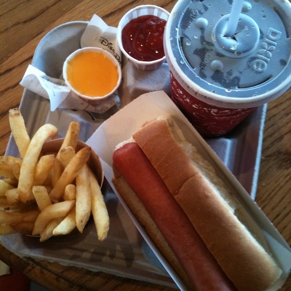 Hot Dog, Fries, And Plastic Cheese @ Casey's Corner