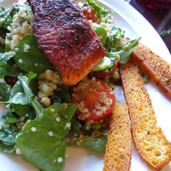 BLACKENED WILD SALMON ON QUINOA @ Vault 164