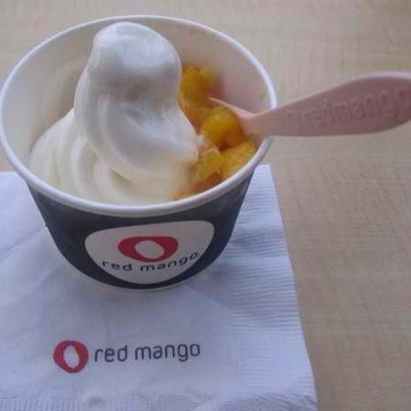 Frozen Yogurt W/ Mango Toppings @ Red Mango