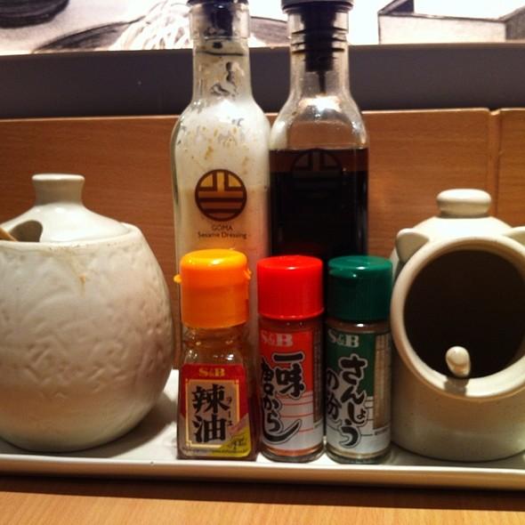 Condiments @ Yabu: The House Of Katsu