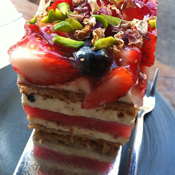 strawberry and watermelon cake @ Black Star Pastry