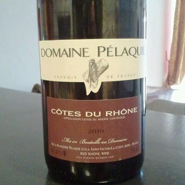 Côtes Du Rhône Wine @ Domaine Pélaqué