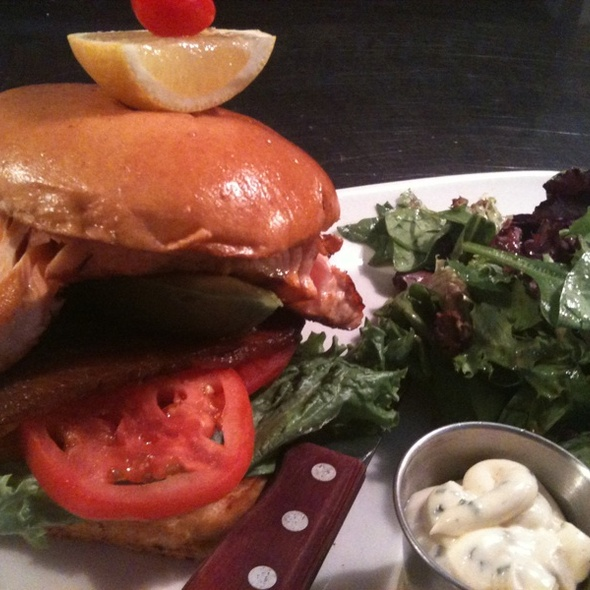 Salmon BLT Sandwich @ Classic Diner The