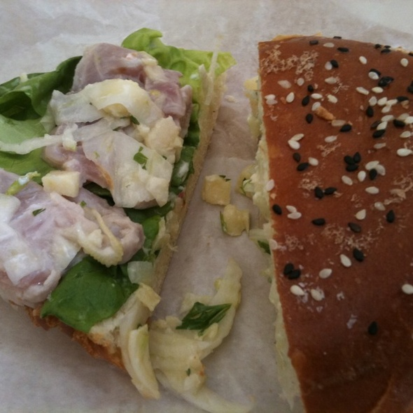 Curried Yellowtail Sandwich @ The Sentinel