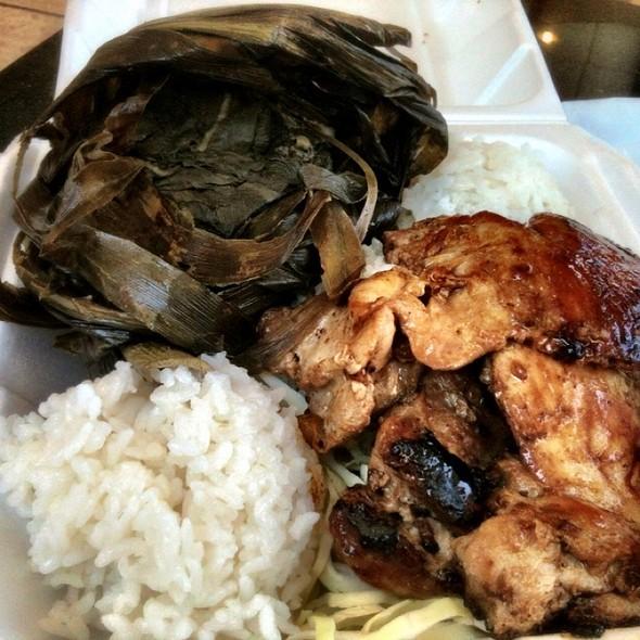 Lau Lau Teri Beef Combo @ L&L Hawaiian Barbecue