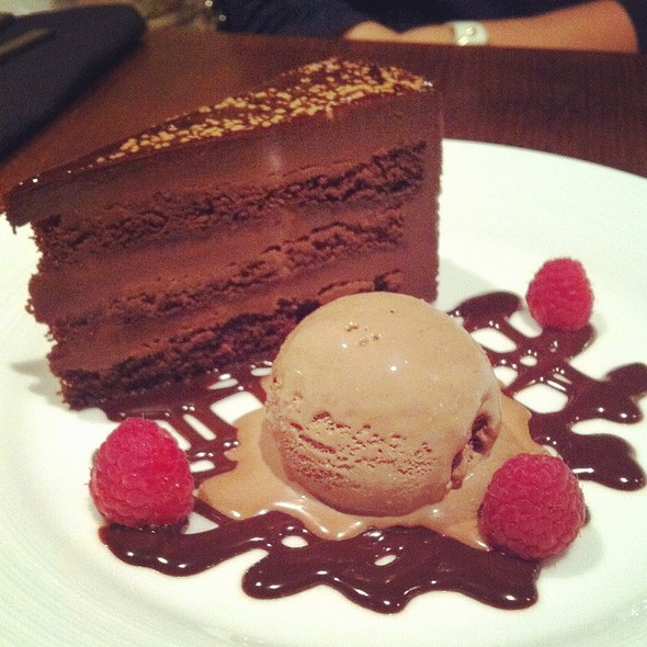 Chocolate Cake with chocolate ice cream @ The Westin Austin at The Domain