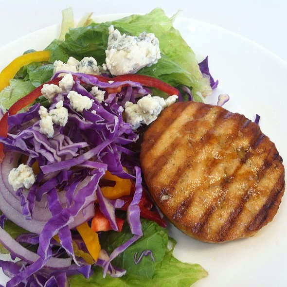 Wild Salmon Burger & Mixed Organic Salad With Dijon Vinaigrete   @ Cms Kitchen