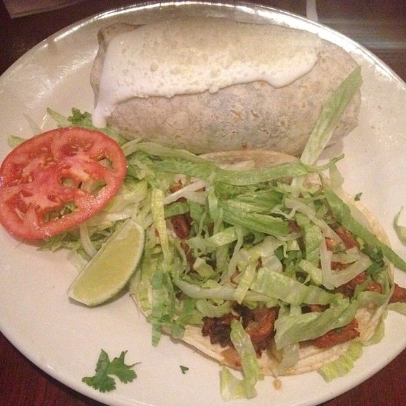 Combinacion Burrito & Al Pastor Taco - Noche Mexicana, New York, NY