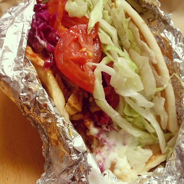 chicken schwarma sandwich @ Shondiz Doner Kebab Food Cart