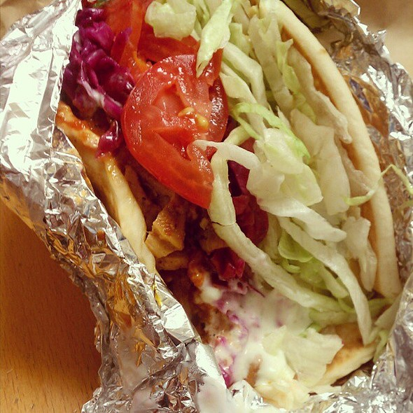 chicken schwarma sandwich @ Shondiz Doner Kebab Food Cart
