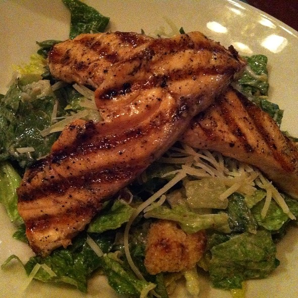 Salmon Ceaser Salad @ Wood Ranch BBQ and Grill Northridge