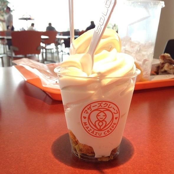 Milk Soft Serve with Corn Flakes @ Mazazu Crepe