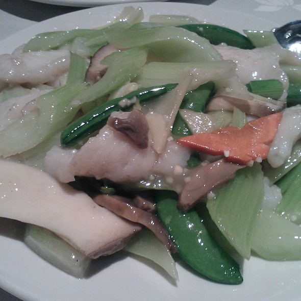 Pan fried garoupa with assorted vegetables @ E Pan Chinese Cuisine