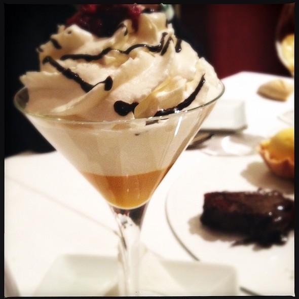 White Chocolate Mousse with Mango Sorbet @ Nina Restaurant
