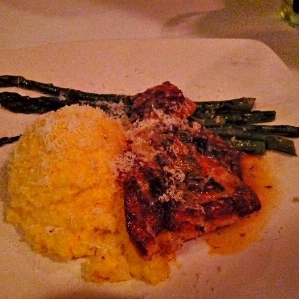 Blackened King Clip With Polenta and Grilled Asparagus - Amerigo - Cool Springs, Brentwood, TN