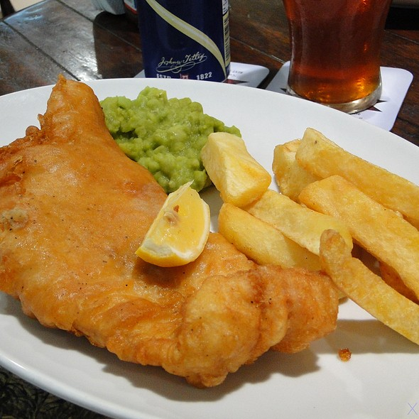 Fish And Chips With Mushy Peas @ Union Jack Tavern