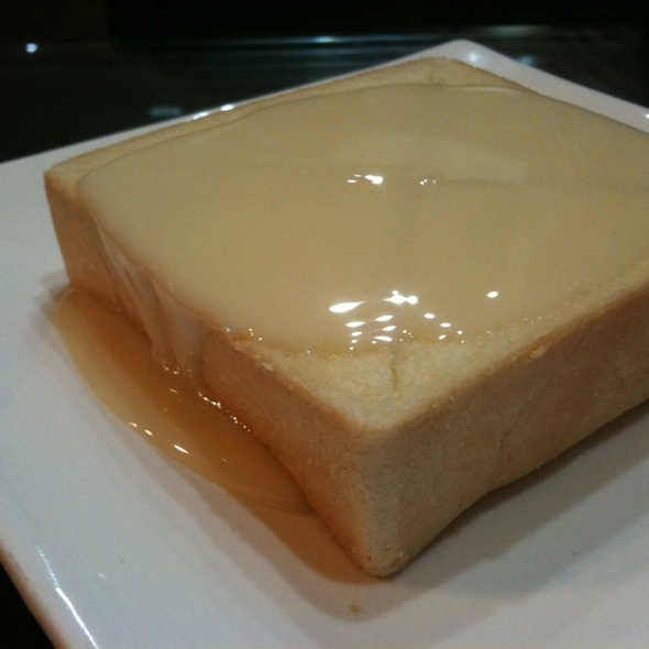Toast w/ Sweetened Condensed Milk @ Saint's Alp Teahouse