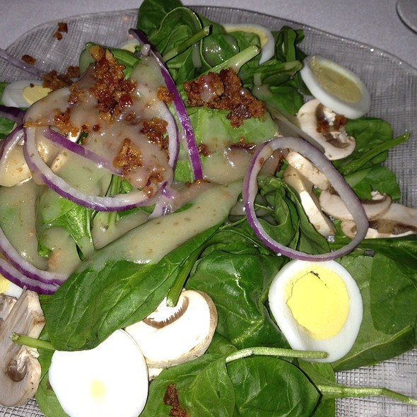 Spinach Salad W/ Bacon Dressing - THE Steak House at Circus Circus - Las Vegas, Las Vegas, NV