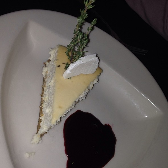 Goat Cheese Cheesecake - The Turf Room, North Aurora, IL