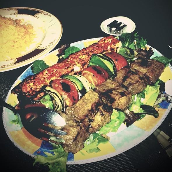 Combination: Filet Mignon And Salmon Kebob - Bandar Restaurant, San Diego, CA