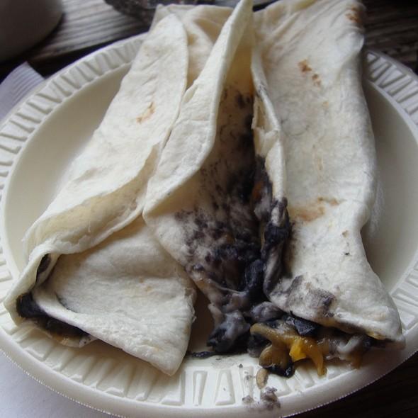 Breakfast Tacos w/ Black Beans, Mushrooms, Jalapenos & Cheese @ Mozart's Coffee Roasters Inc