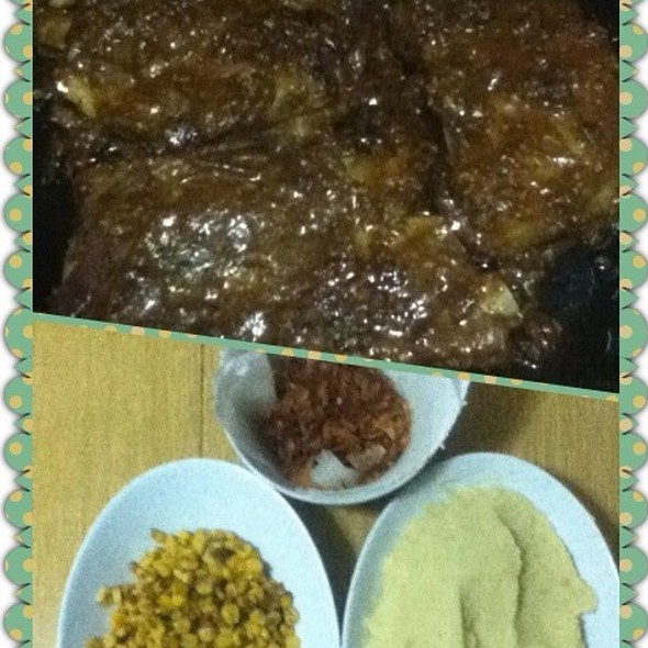 Baby Back Ribs With Buttered Corn And Mashed Potato @ Tita Anne's House