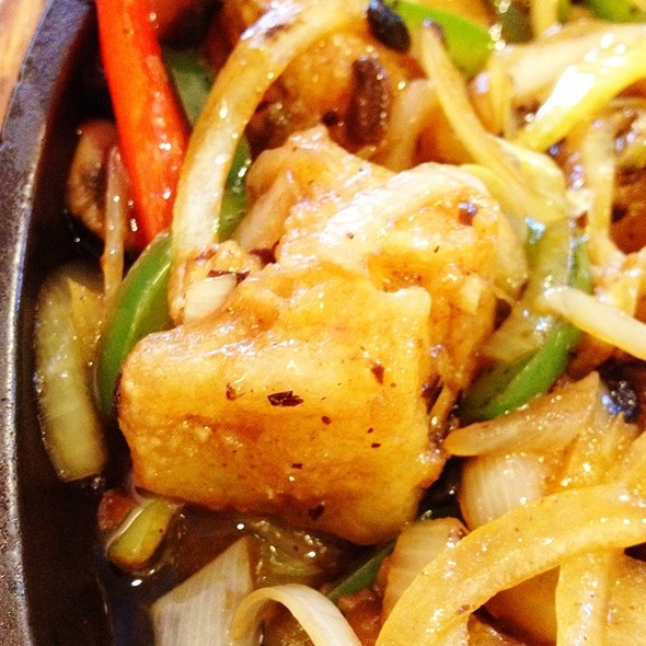 Sizzling Sea Bass With Black Bean Sauce @ T & T Seafood Restaurant