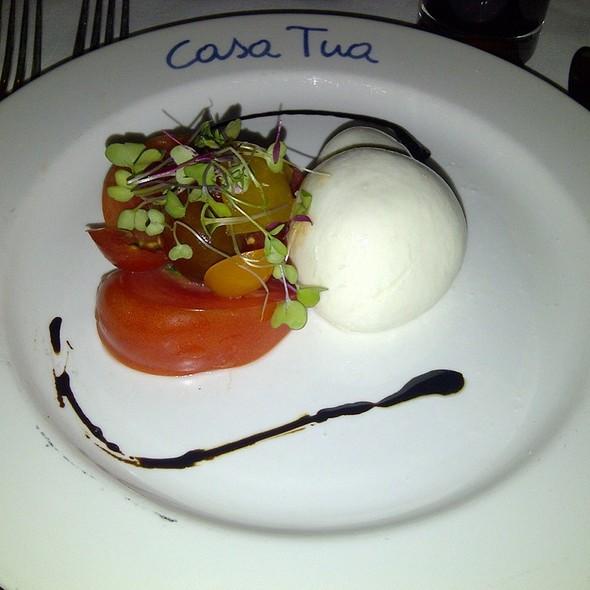 Local Tomato Buffalo Mozzarella Salad @ Casa Tua Hotel