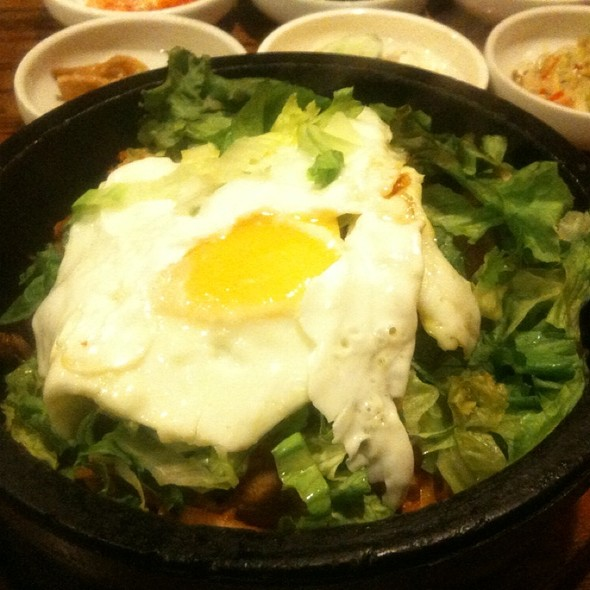 Spicy Pork Bibimbap @ Stone Bowl House Woo Nam Jeong