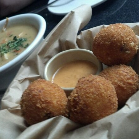Chicken and Dumplings & Grit Fritters  - Sway - Hyatt Regency Louisville, Louisville, KY