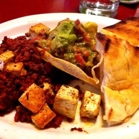 Tofu Scramble And Vegan Chorizo Sausage @ Farmicia Llc