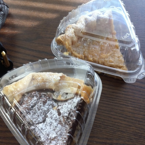 Sugar Creme And Brownie Pie Slices @ Hoosier Mama Pie Company