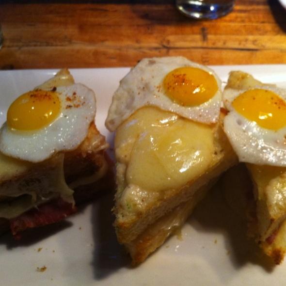 Crispy Lady (brioche, Gruyere, Fried Quail Eggs) @ Spitzer's Corner