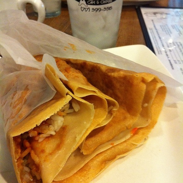 thai chicken crepe @ Rachel's Cafe & Creperie