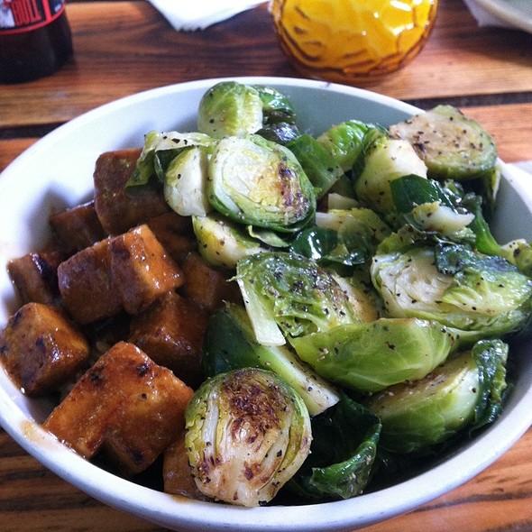 Bbq Tofu Brussel Bowl @ Bye & Bye
