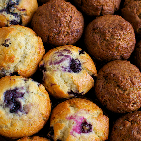 Blueberry Muffin @ L'Artisan Valley Baking Company