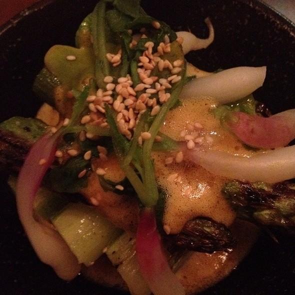 Bacon Wrapped Asparagus @ Nojo