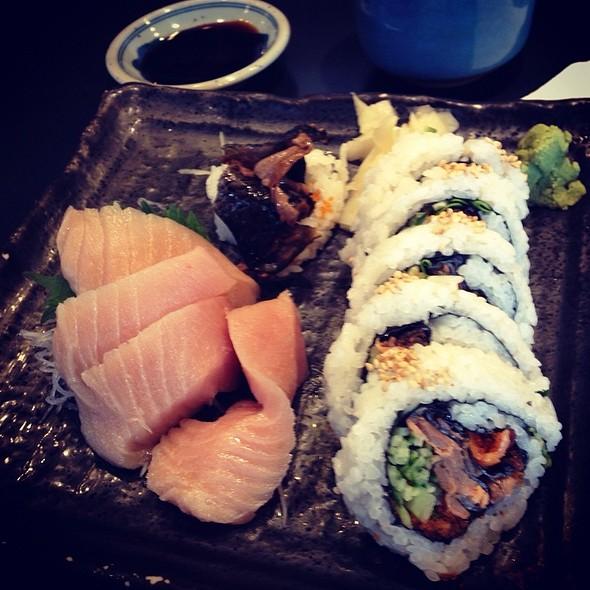 Toro Sashimi And Bc Roll @ Ajisai Sushi Bar