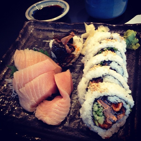 Toro Sashimi And Bc Roll @ Ajisai Sushi Bar