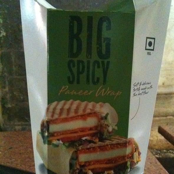 Big Spicy Paneer Wrap