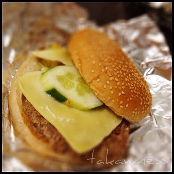 classic hamburger @ Tropical Hut Hamburger