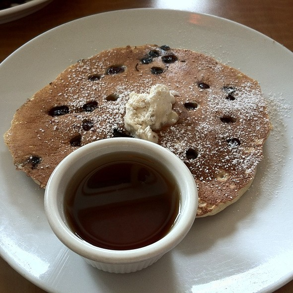 Chocolate Chip Pancake With Walnut Butter @ Cafe M