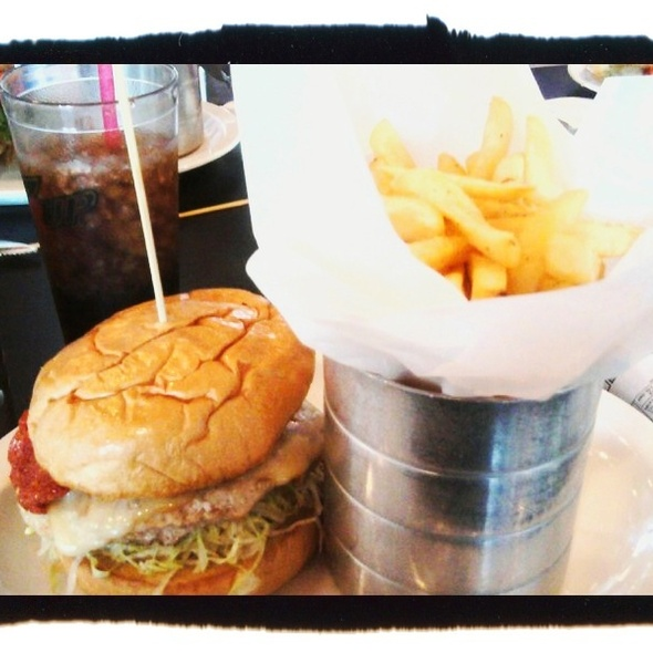 Turkey Burger And Fries @ Monkey Burger
