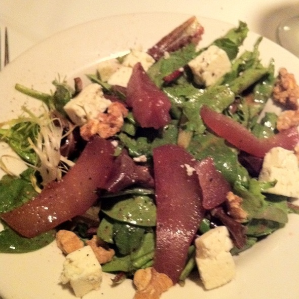 Pear, Walnut, and Gorgonzola Salad at Palm Court Fine Food And Spirits