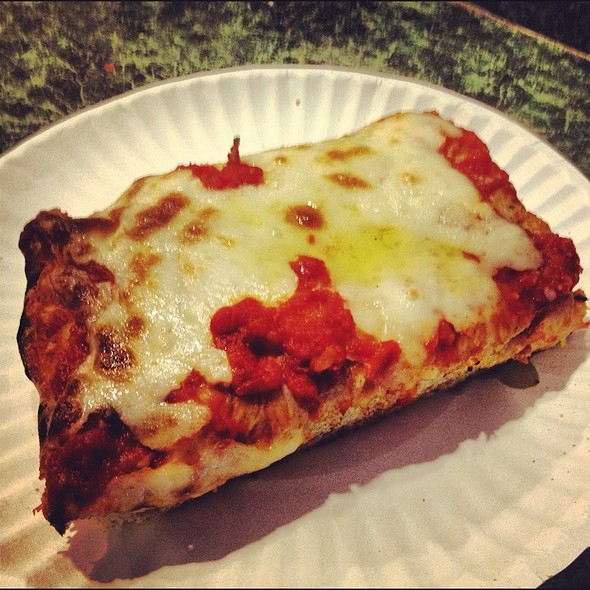 Sicilian Slice With Olive Oil @ Famous Joe's Pizza